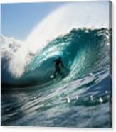 Surfer At Pipeline Canvas Print