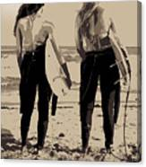 Surfer Girls Canvas Print