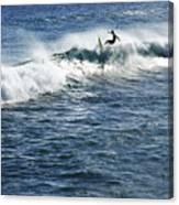 Surfer Riding A Wave Canvas Print