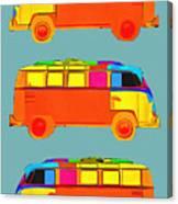 Surfer Vans Canvas Print