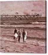 Surfers Three Canvas Print