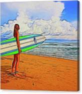 Surfing 19518 Canvas Print