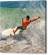 Surfing Action  Canvas Print
