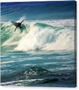 Surfing Asilomar Two Canvas Print