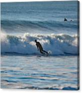 Surfing At Hampton Nh Canvas Print