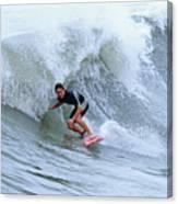 Surfing Bogue Banks 3 Canvas Print