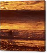 Surfing California Canvas Print