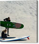 Surfing Couple Canvas Print