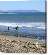 Surfing In Ventura Ca Canvas Print