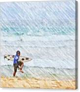 Surfer In Aus Canvas Print