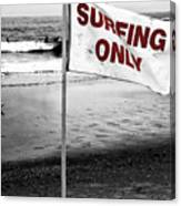 Surfing Only Fusion Canvas Print