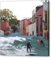 Surfing Quebrada Canvas Print