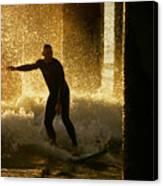Surfing The Dawn Canvas Print