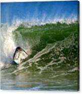 Surfing The Winter Atlantic Canvas Print