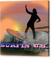 Surfing U.s.a. Canvas Print