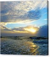 St. Augustine Beach Sunrise Surf Canvas Print