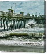 Surge Under The Pier Canvas Print