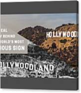 Surprising Facts Of Hollywood Sign Canvas Print