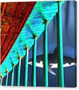 Surreal Bridge Shark Cage Canvas Print