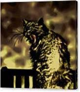 Surreal Cat Yawn Canvas Print