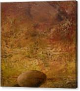 Surreal Egg On An Abstract Canvas Canvas Print