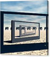 Surreal Elephant Desert Scene Canvas Print