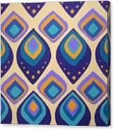Surreal Peacock Pattern Design. Canvas Print