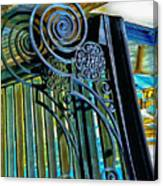 Surreal Reflection And Wrought Iron Canvas Print