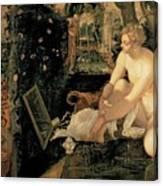 Susanna Bathing Canvas Print