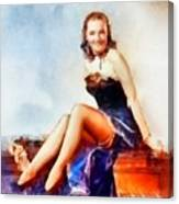 Susanna Foster, Vintage Hollywood Actress Canvas Print