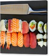 Sushi And Knife Canvas Print