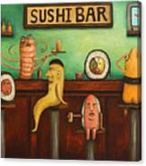 Sushi Bar Darker Tone Image Canvas Print