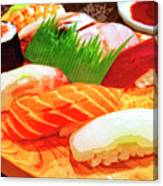 Sushi Plate 1 Canvas Print