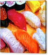 Sushi Plate 4 Canvas Print
