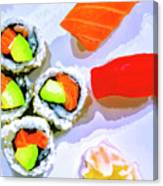 Sushi Plate 6 Canvas Print