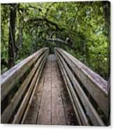 Suspension Bridge To Destiny Canvas Print