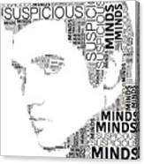 Suspicious Minds Elvis Wordart Canvas Print