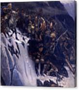 Suvorov Crossing The Alps In 1799 Canvas Print