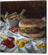 Suzy-q Double Cheeseburger Canvas Print
