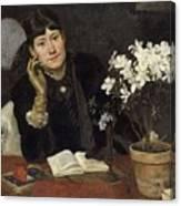 Sven Richard Bergh - The Artist, Julia Beck 1883 Canvas Print