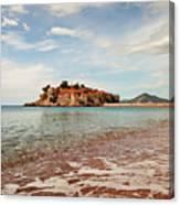 Sveti Stefan Beach Canvas Print