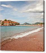 Sveti Stefan Island Iconic Landmark Canvas Print
