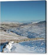 Swaledale In Winter Canvas Print
