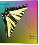 Swallowtail - Come Fly Away With Me Canvas Print