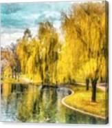 Swan Boats Boston Public Garden Canvas Print