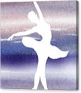 Swan Lake Ballerina Silhouette Canvas Print