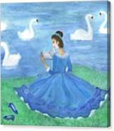 Swan Lake Reader Canvas Print