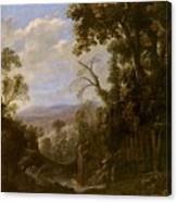Swanevelt, Herman Van Woerden, 1603 - Paris, 1655 Landscape With Hermit Bound In Chains 1634 - 1639. Canvas Print