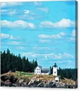 Swans Island Lighthouse Canvas Print