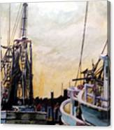 Swansboro Shrimp Boats Canvas Print